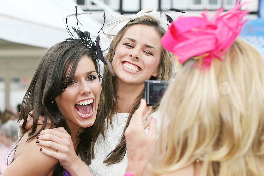 5/8/2010.Blossom Hill Ladies Day. Sisters Chloe and Geraldine Carton from Dublin are pictured at the Blossom Hill Ladies Day at the Fáilte Ireland Dublin Horse Show at RDS. Picture James Horan/Collins Photos