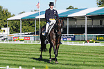 Will Faudree riding Andromaque during day 2 of the dressage phase at the 2012 Land Rover Burghley Horse Trials in Stamford, Lincolnshire,UK.