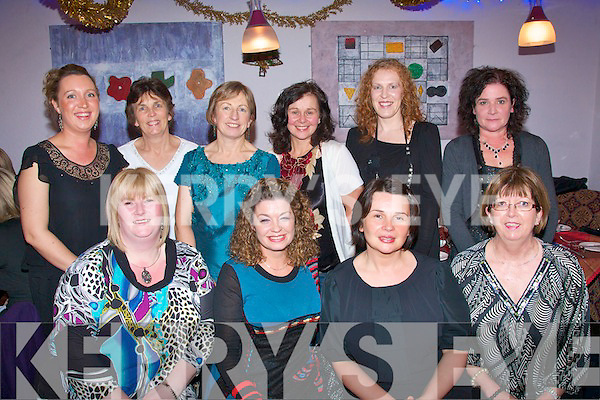 1788-1791.---------.Making Christmas better.-----------------------.Staff of St Teresa's ward,Bon Secure Hospital,Tralee,dined in Kirby's BrogueInn,Rock St'Tralee,last Saturday night for their 2010 Christmas party,enjoying themselves were(seated)L-R Cara Flahive,Leila Leahy,Noreen Crosby and Noreen Breen(Back)L-R Colleen O'Connor,Helen Jenkinson,Fionnuala Fitzgerald,Kathleen Finnigan,Trish Laddin and Theresa Corcoran.
