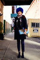 Odessa Paloma Parker attends Day 2 of New York Fashion Week on Feb 13, 2015 (Photo by Hunter Abrams/Guest of a Guest)