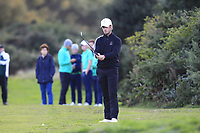 David Langley from England on the 18th fairway during Round 3 Singles of the Men's Home Internationals 2018 at Conwy Golf Club, Conwy, Wales on Friday 14th September 2018.<br /> Picture: Thos Caffrey / Golffile<br /> <br /> All photo usage must carry mandatory copyright credit (&copy; Golffile | Thos Caffrey)