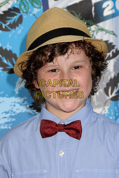 NOLAN GOULD.Teen Choice Awards 2010 - Arrivals held at Universal Studios Gibson Amphitheatre, Universal City, California, USA..August 8th, 2010 .headshot portrait blue red bow tie brown hat.CAP/ADM/BP.©Byron Purvis/AdMedia/Capital Pictures.