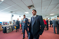 Picture By Allan McKenzie/SWpix.com - 06/04/18 - Cricket - Yorkshrie County Cricket Club Opening Season Lunch 2018 - Emerald Headingley Stadium, Leeds, England - Tim Bresnan at the opening season lunch.