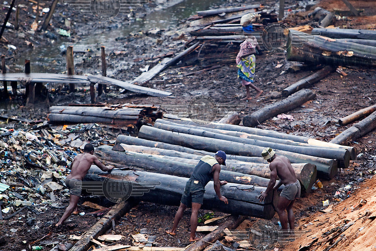Timber is processed in the Ebute Metta neighbourhood. This is the principal wood milling and timber supply area for the city. Timber is floated in rafts from north and east of Lagos and then milled and sold.