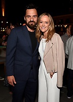 ABC/DISNEY TELEVISION STUDIOS/FX/NAT GEO PARTY AT SAN DIEGO COMIC-CON© 2019: L-R: Jake Johnson and President, ABC Entertainment, Karey Burke attend the ABC/Disney Television Studios/FX/NatGeo Party on Friday, July 19 at at the Pendry Hotel Rooftop at SAN DIEGO COMIC-CON© 2019. CR: Frank Micelotta/Disney Television Studios © 2019 Disney Television Studios