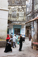 Tanzania A busy alley in Stone Town