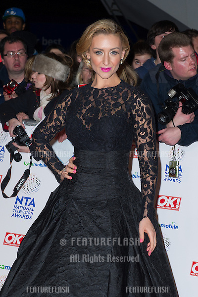 Catherine Tyldesley arriving for the National TV Awards 2014, at the O2, London. 22/01/2014 Picture by: Dave Norton / Featureflash
