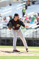 Turner Lee (8) of the Vancouver Canadians pitches during a game against the Everett AquaSox at Everett Memorial Stadium on July 28, 2015 in Everett, Washington. Everett defeated Vancouver, 8-5. (Larry Goren/Four Seam Images)