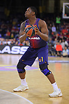 Turkish Airlines Euroleague 2017/2018.<br /> Regular Season - Round 13.<br /> FC Barcelona Lassa vs Unicaja Malaga: 83-90.<br /> Kevin Seraphin.