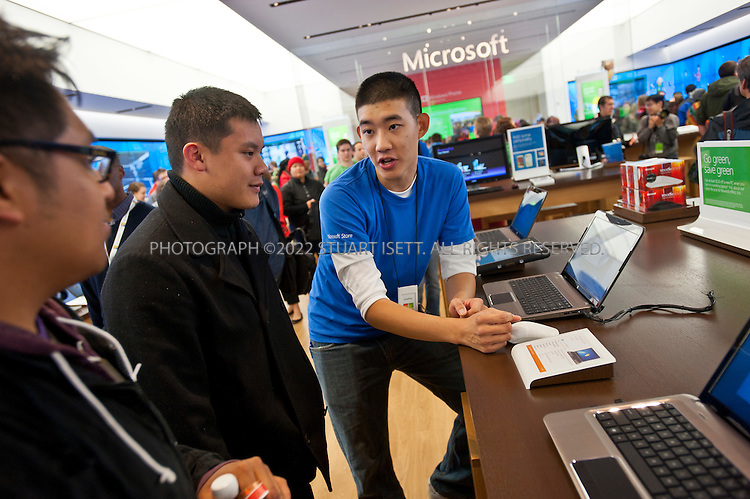 10/20/2011--Seattle, WA, USA..Microsoft (MSFT) opened their 12th retail store in Seattle's U-Village shopping center today. Nearly 1000 people waited in line for the opening of the company's first store in Seattle. The store opened up directly across from an Apple store. Nationwide, Microsoft will open two more this fall, in California and Virginia. ..©2011 Stuart Isett. All rights reserved.