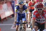 Enric Mas Nicolau (ESP) Quick-Step Floors crosses the finish line at the end of Stage 4 of the La Vuelta 2018, running 162km from Velez-Malaga to Alfacar, Sierra de la Alfaguara, Andalucia, Spain. 28th August 2018.<br /> Picture: Colin Flockton   Cyclefile<br /> <br /> <br /> All photos usage must carry mandatory copyright credit (&copy; Cyclefile   Colin Flockton)