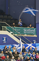 Glasgow. SCOTLAND.  Home support at the Women's Semi Final&quot; Game. Scotland vs Russia. Le Gruy&egrave;re European Curling Championships. 2016 Venue, Braehead  Scotland.<br /> <br /> Friday  25/11/2016<br /> <br /> [Mandatory Credit; Peter Spurrier/Intersport-images]