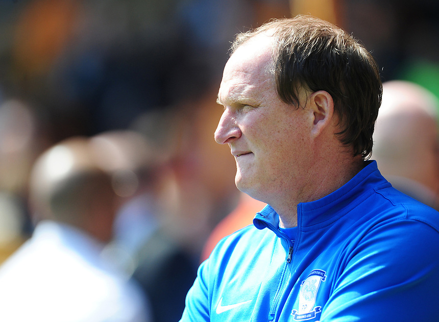 Preston North End manager Simon Grayson <br /> <br /> Photographer Kevin Barnes/CameraSport<br /> <br /> The EFL Sky Bet Championship - Wolverhampton Wanderers v Preston North End - Sunday 7th May 2017 - Molineux Stadium <br /> <br /> World Copyright &copy; 2017 CameraSport. All rights reserved. 43 Linden Ave. Countesthorpe. Leicester. England. LE8 5PG - Tel: +44 (0) 116 277 4147 - admin@camerasport.com - www.camerasport.com