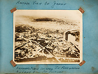 BNPS.co.uk (01202 558833)<br /> AndreasThies/BNPS<br /> <br /> Picture: Aerial view of Emperors Palace in Tokyo located on the bottom left of the picture.<br /> <br />  Never-before-seen photos of the aircraft crew that dropped the world's first atomic bomb receiving a heroes' welcome upon returning from the historic mission have come to light.<br /> <br /> The black and white images show the 12 airmen posing for photos moments after the B-29 bomber 'Enola Gay' arrived back at base in the wake of the devastating attack on Hiroshima in Japan.<br /> <br /> One photo is of pilot Colonel Paul Tibbets being given an immediate gallantry decoration by a general after stepping off the aircraft.<br /> <br /> The album, containing 88 images, was collated by a US airman serving on the base during World War Two.<br /> <br /> The album has emerged for sale from a French collector with German auctioneer Andreas Thies who expect it to fetch £3,000.