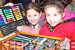 Artists: Serena Nash, Glenflesk and Keela Spillane, Tarbert taking part in .the Under 10s Community Games Art County Finals at the Presentation Convent .on Saturday afternoon.   Copyright Kerry's Eye 2008