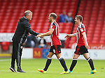 Chris Wilder manager of Sheffield Utd greets the players during the League One match at Bramall Lane Stadium, Sheffield. Picture date: September 17th, 2016. Pic Simon Bellis/Sportimage