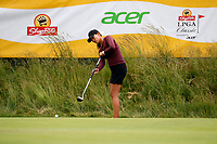 Annie Park (USA) putts on the 18th hole during the ShopRite LPGA Classic presented by Acer, Seaview Bay Club, Galloway, New Jersey, USA. 6/10/18.<br /> Picture: Golffile | Brian Spurlock<br /> <br /> <br /> All photo usage must carry mandatory copyright credit (&copy; Golffile | Brian Spurlock)