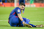 Luis Suarez of FC Barcelona lies injured on the pitch during the La Liga 2017-18 match between FC Barcelona and Deportivo La Coruna at Camp Nou Stadium on 17 December 2017 in Barcelona, Spain. Photo by Vicens Gimenez / Power Sport Images