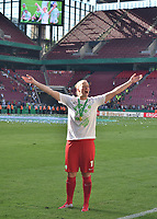 20170527 - KOELN , GERMANY : Wolfsburg's Almuth Schult celebrating their victory in the final of German Women's Cup 2017 - Pokal Final Frauen , a soccer women game between SC Sand and holders VfL Wolfsburg  , at the Rhein Energie Stadion , saturday 27 th Mayl 2017 . PHOTO SPORTPIX.BE | DIRK VUYLSTEKE