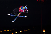 1st December 2017, Moenchengladbach, Germany;  Marc Forehand of USA in action in the men's finals of the Big Air Freestyle Skiing World Cup at the SparkassenPark venue in Moenchengladbach, Germany, 1 December 2017.