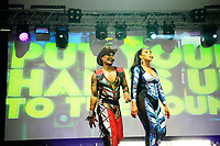 LONDON, ENGLAND - JUNE 3: Donny Latupeirissa and Kim Sasabone of 'Vengaboys' performing at Mighty Hoopla at Brockwell Park, Brixton on June 3, 2018 in London<br /> CAP/MAR<br /> &copy;MAR/Capital Pictures