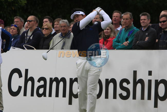 Y.E. Yang (KOR) tees off on the 1st tee to start his round on Day 2 of the BMW PGA Championship Championship at, Wentworth Club, Surrey, England, 27th May 2011. (Photo Eoin Clarke/Golffile 2011)
