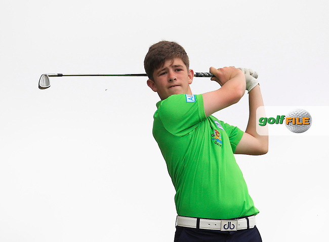 Paddy Culhane (Galway) on the 7th tee during Round 2 of the Irish Boys Amateur Open Championship at Tuam Golf Club on Wednesday 24th June 2015.<br /> Picture:  Thos Caffrey / www.golffile.ie