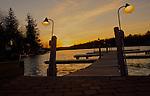 Poconos, Northeast Pennsylvania, Lake Harmony, Carbon County, Dock and Sunset