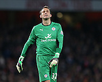 Leicester's Mark Schwarzer looks on dejected<br /> <br /> Barclays Premier League- Arsenal vs Leicester City  - Emirates Stadium - England - 10th February 2015 - Picture David Klein/Sportimage