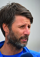 Lincoln City manager Danny Cowley before kick off<br /> <br /> Photographer Andrew Vaughan/CameraSport<br /> <br /> The EFL Sky Bet League Two - Lincoln City v Morecambe - Saturday August 12th 2017 - Sincil Bank - Lincoln<br /> <br /> World Copyright &copy; 2017 CameraSport. All rights reserved. 43 Linden Ave. Countesthorpe. Leicester. England. LE8 5PG - Tel: +44 (0) 116 277 4147 - admin@camerasport.com - www.camerasport.com