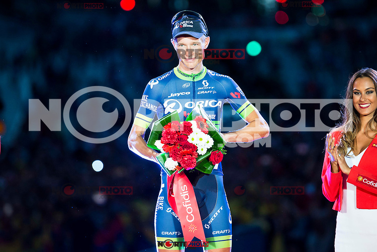 Magnus Cort Nielsen winner of the stage of La Vuelta a España 2016 in Madrid. September 11, Spain. 2016. (ALTERPHOTOS/BorjaB.Hojas) NORTEPHOTO.COM