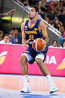 Spain's basketball player Alberto Abalde during the  match of the preparation for the Rio Olympic Game at Madrid Arena. July 23, 2016. (ALTERPHOTOS/BorjaB.Hojas) /NORTEPHOTO.COM