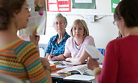 Spanish class, Adult Learning Centre, Guildford, Surrey.