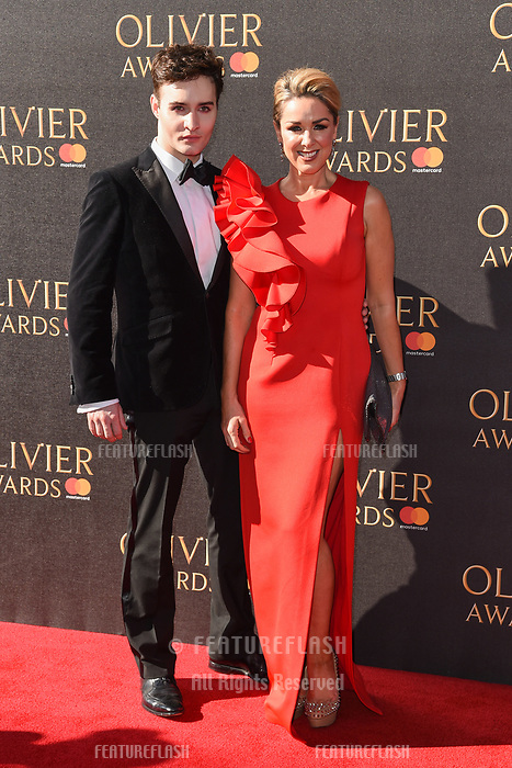 Claire Sweeney &amp; Jos Vantyler at The Olivier Awards 2017 at the Royal Albert Hall, London, UK. <br /> 09 April  2017<br /> Picture: Steve Vas/Featureflash/SilverHub 0208 004 5359 sales@silverhubmedia.com