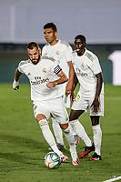 10th July 2020; Estadio Alfredo Di Stefano, Madrid, Spain; La Liga Football, Real Madrid versus Deportivo Alaves; Karim Benzema (Real Madrid)  comes forward on the ball in the 2nd half