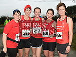 Paula Flynn, Niamh Matthews, Laura Roche, Yvonne Dullaghan and Deirdre McFerran who took part in the Noel Carroll 10k race at Annagassan. Photo:Colin Bell/pressphotos.ie