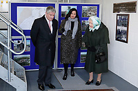 05/02/2020 - Queen Elizabeth II is shown around a control room by Philip Camamile, Chief Executive at Water Management Alliance (L) as she stands next to a plaque commemorating when her father, King George VI, opened the original station on February 2, 1948 during her visit to Wolferton Pumping Station in Norfolk. Photo Credit: ALPR/AdMedia