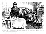 "Mr Meere. ""You'll really have to be more careful, dear, how you speak to the cook or she'll be leaving us."" Mrs M. ""Perhaps I was rather severe."" Mr M. ""Severe! Why, anyone would have thought you were talking to me."""
