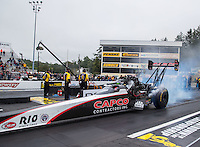 Oct 1, 2016; Mohnton, PA, USA; NHRA top fuel driver Steve Torrence during qualifying for the Dodge Nationals at Maple Grove Raceway. Mandatory Credit: Mark J. Rebilas-USA TODAY Sports