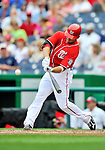 24 September 2011: Washington Nationals second baseman Danny Espinosa in action against the Atlanta Braves at Nationals Park in Washington, DC. The Nationals defeated the Braves 4-1 to even up their 3-game series. Mandatory Credit: Ed Wolfstein Photo