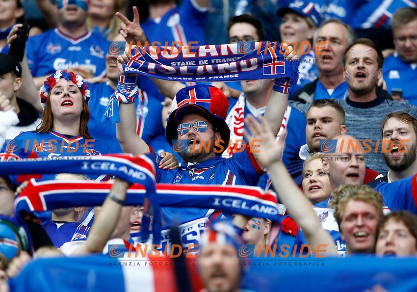 Iceland supporters. tifoso islandesi<br /> Paris 03-07-2016 Stade de France Football Euro2016 France - Iceland / Francia - Islanda Quarter finals <br /> Foto Matteo Ciambelli / Insidefoto