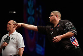 10th January 2018, Brisbane Royal International Convention Centre, Brisbane, Australia; Pro Darts Showdown Series; Johhny K (USA) in action during his match against Rhys Mathewson (AUS)