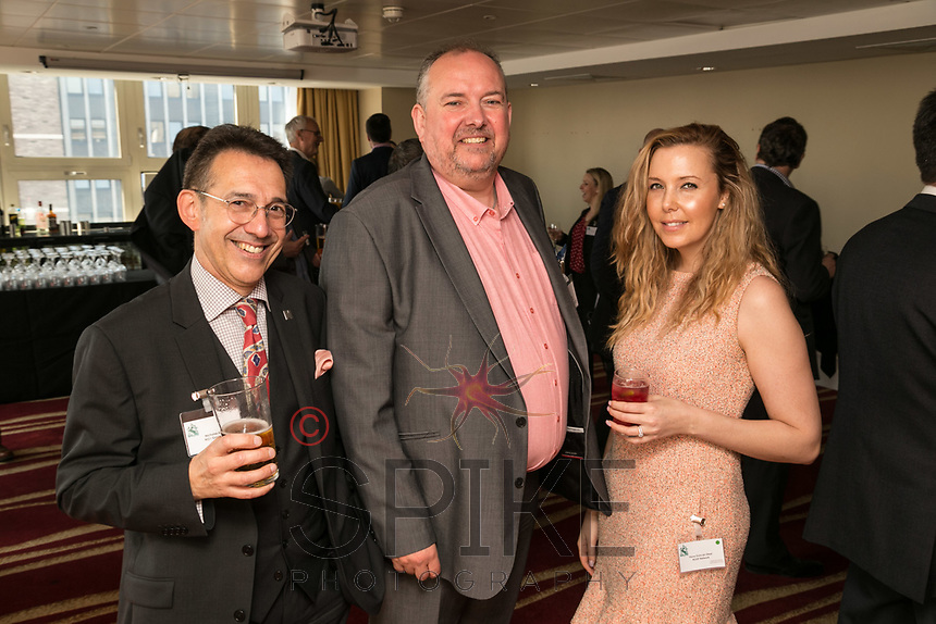 From left are Nicholas Max of NG1 Group, Justin Hevness of CP Walker aand Fiona Duncan of RSVIP Network