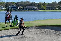 Danny Willett (ENG) hits from the trap on 6 during round 2 of the Arnold Palmer Invitational at Bay Hill Golf Club, Bay Hill, Florida. 3/8/2019.<br />