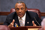 Nevada Assemblyman Harvey Munford, D-Las Vegas, works in committee at the Legislative Building in Carson City, Nev., on Tuesday, March 17, 2015. <br /> Photo by Cathleen Allison