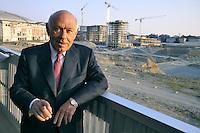 - Milan, the house-builder Salvatore Ligresti visiting site of the new building compound CityLife<br /> <br /> - Milano, il costruttore Salvatore Ligresti in visita al cantiere del nuovo complesso edilizio CityLife