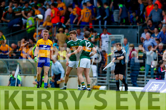 Gavin White and Stephen O'Brien Kerry after the Munster GAA Football Senior Championship semi-final match between Kerry and Clare at Fitzgerald Stadium in Killarney on Sunday.