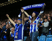 1st October 2017, Hillsborough, Sheffield, England; EFL Championship football, Sheffield Wednesday versus Leeds United; Sheffield Wednesday fans singing away after Kieran Lee of Sheffield Wednesday makes it 3-0 in the 82nd minute