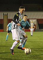 Anton Brady in the St Mirren v Dunfermline Athletic Scottish Professional Football League Under 20 match played at the Excelsior Stadium, Airdrie on 11.12.13.
