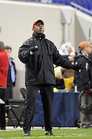 Cincinnati Bearcats head coach Hylton Dayes. The Providence Friars defeated the Cincinnati Bearcats 2-1 during the semi-finals of the Big East Men's Soccer Championship at Red Bull Arena in Harrison, NJ, on November 12, 2010.